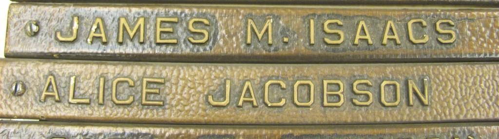 Plaque Names