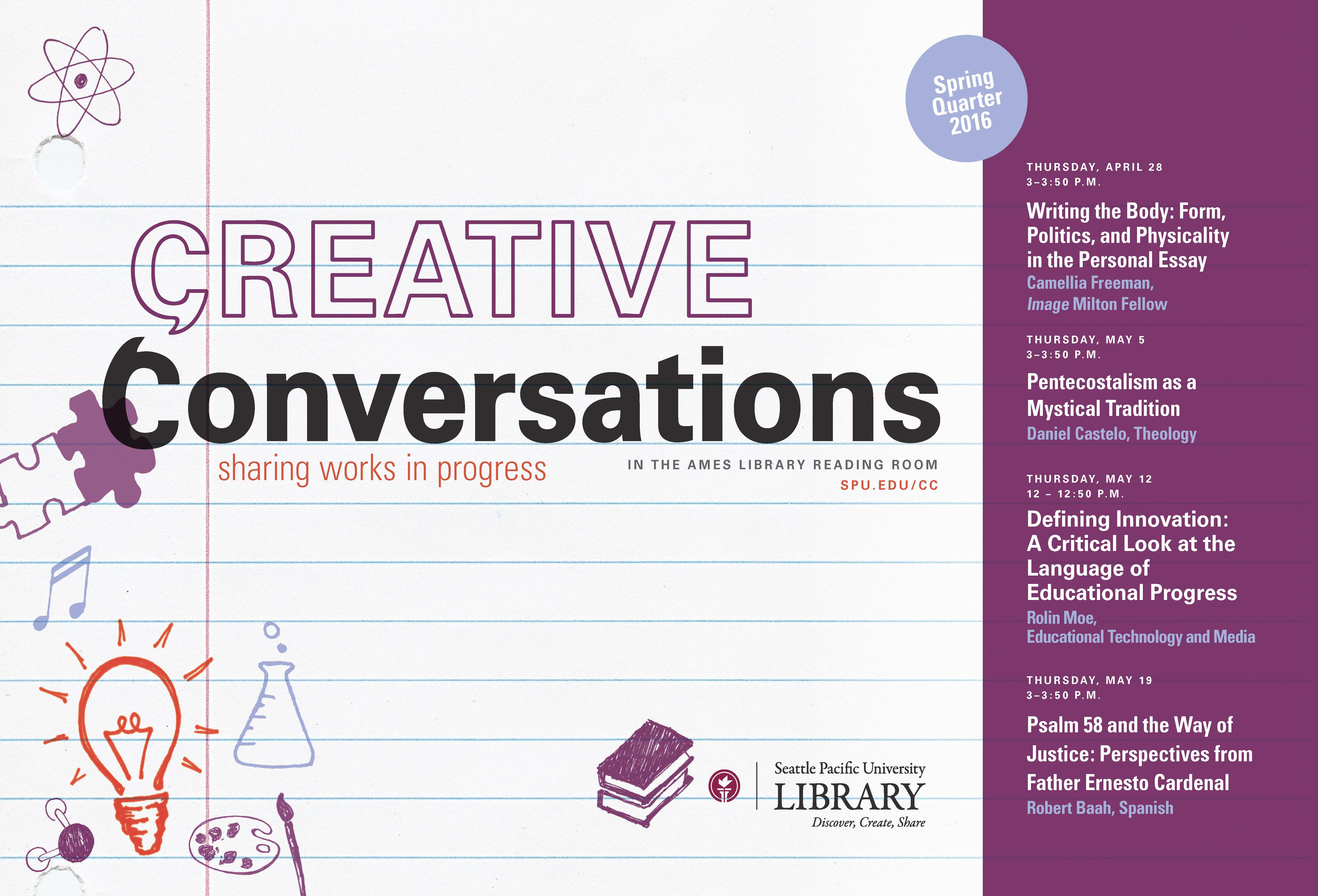 Creative Conversation Spring 2016